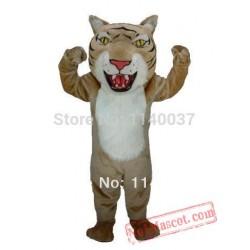 Professional Tan Wildcat Mascot Costume
