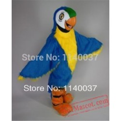 Long Hair Blue Macaw Mascot Costume