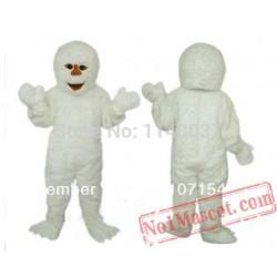 White Monster Yeti Snowman Christmas Mascot Costume