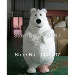 Fat Polar Bear Mascot Costume