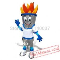 Winter Torch Fire Mascot Costume