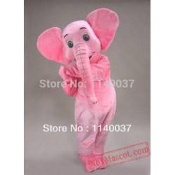 Miss Pink Elephant Mascot Costume