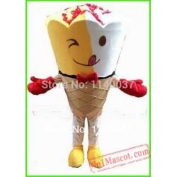 Sundae Icecream Ice-Cream Mascot Costume
