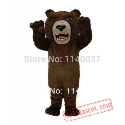 Fierce Brown Grizzly Mascot Costume