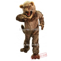 Super Deluxe Style Snarling Cheetah Mascot Costume