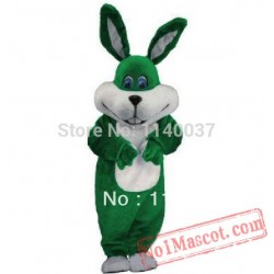 New Green Easter Bunny Mascot Costume
