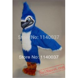 Long Hair Plush Material Fierce Blue Jay Mascot Costume