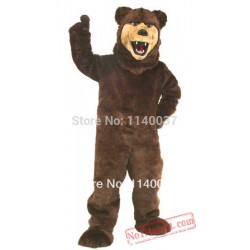 Professional Custom! Ems Free Ship! Grizzly Bear Mascot Costume
