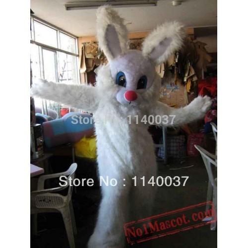 Long Hair Rabbit Easter Bunny Mascot Costume