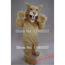 Long Hair Material Saber Tooth Mascot Costume