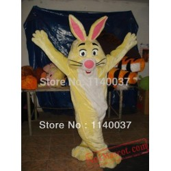 Easter Yellow Bunny Rabbit Mascot Costume