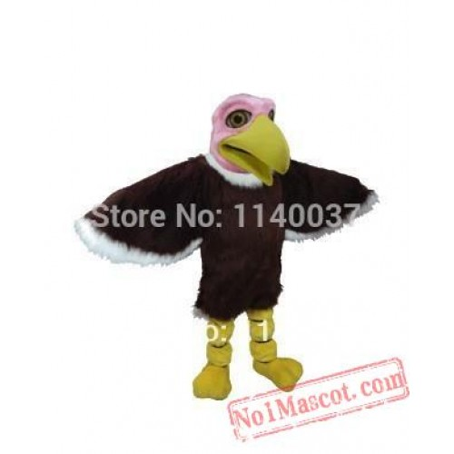 Good Quality Pink Head Vulture Mascot Costume