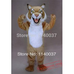 Professional Custom Tan Bobcat Mascot Costume