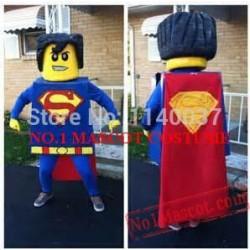 Block Superman Mascot Costume