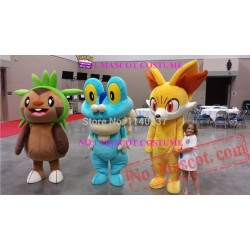 Chespin Froakie And Fennekin Mascot Costume