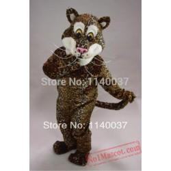 Cougar Leopard Plush Jaguar Mascot Costume