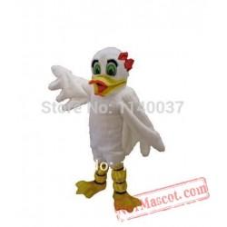 White Female Duck Mascot Costume
