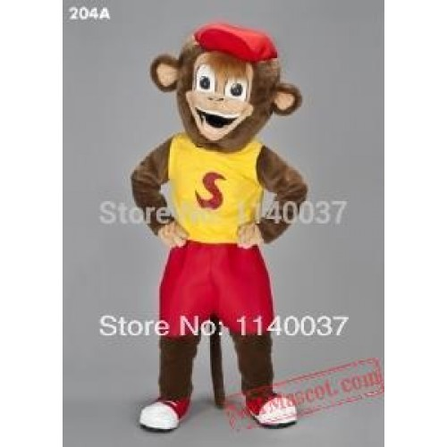 Mascot Smiley Monkey Mascot Costume