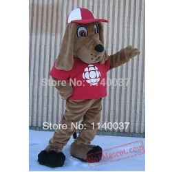 Dog With Hat Mascot Costume