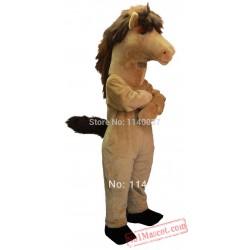 Brown Mustang Mascot Costume