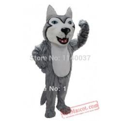 Big Head Grey Husky Mascot Costume