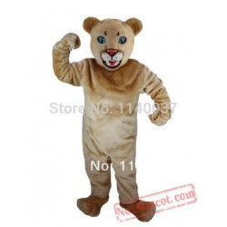 Tan Leopard Panther Cougar Mascot Costume