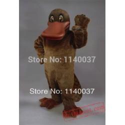 Brown Platypus Mascot Costume