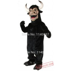 Black Power Bully Bull Mascot Costume