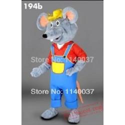 Farmer Mouse Plush Mascot Costume