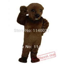 Dark Brown Otter Mascot Costume
