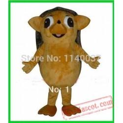 Little Wild Brown Hedgehog Mascot Costume