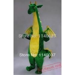Big Green Fantasy Dragon Mascot Costume