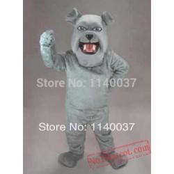 Light Grey Spike Dog Mascot Costume