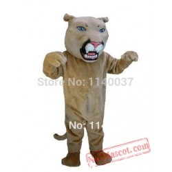 Brown Leopard Panther Cat Cougar Mascot Costume
