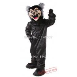 Black Wolf Mascot Costume