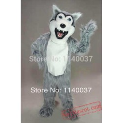Adult Grey Husky Mascot Costume