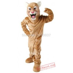 Tan Leopard Panther Cat Cougar Mascot Costume
