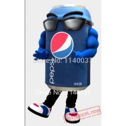 Blue Can Mascot Costume
