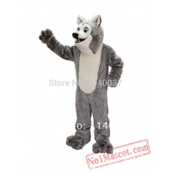 Friendly Husky Mascot Costume