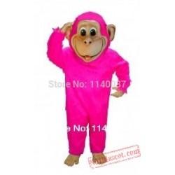Pink Chimp Mascot Costume