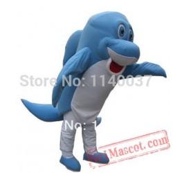 Blue Dolphin Mascot Costume