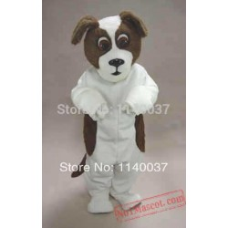 Brown & White St. Bernard Dog Mascot Costume