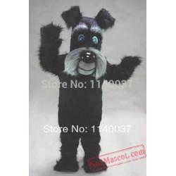 Long Hair Black Terrier Dog Mascot Costume