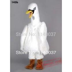 White Swan Mascot Costume