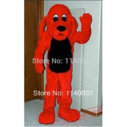 Red Dog Mascot Costume