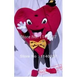 Red Valentines Heart Mascot Costume
