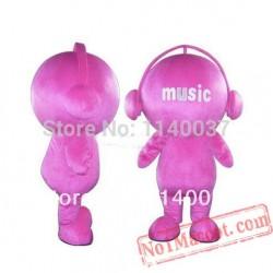 Pink Music Doll Mascot Costume