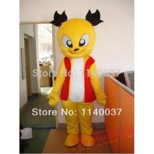 Professional Yellow Cat Mascot Costume
