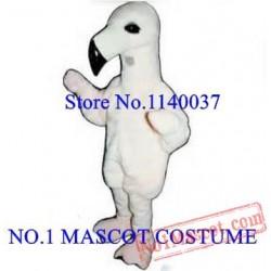 Anime Cosplay Costumes White Baby Flamingo Mascot Costume
