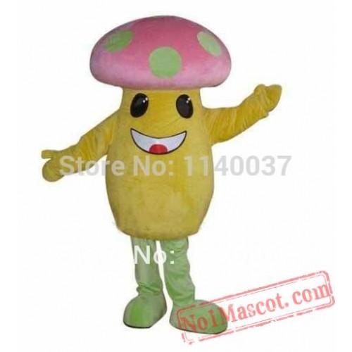 Little Pink Mushroom Mascot Costume